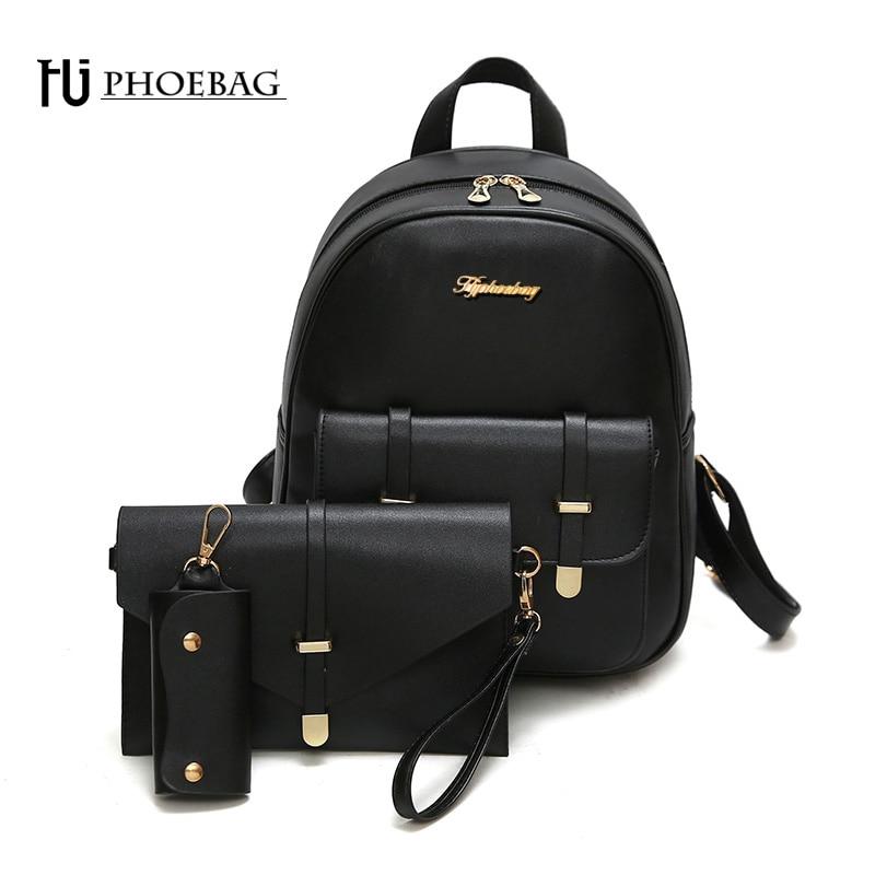 купить HJPHOEBAG Fashion mini women backpack high quality school bags for teenage girls PU leather black mochila feminine bags Z-469 по цене 956.98 рублей