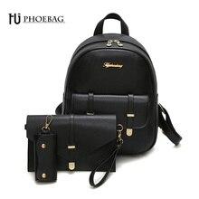 HJPHOEBAG Мода мини женщины рюкзак школьные высокое качество сумки для девочек-подростков ИСКУССТВЕННАЯ кожа черный mochila женские сумки Z-469