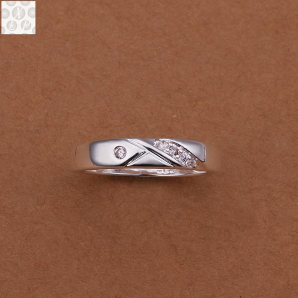 R240 Silver plated jewelry Hot sell new design finger ring for lady