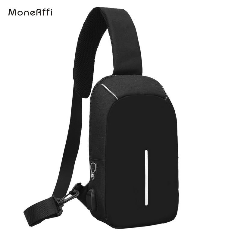 MoneRffi Men Casual  Theft Chest Bag  Waterproof Men Money Phone Pouch  Bag Female Shoulder Bag Male Chest