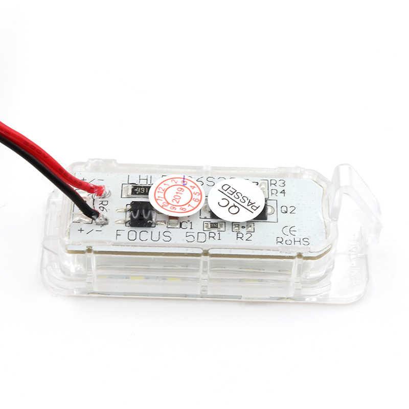 Niscarda 2 قطعة 6000K الأبيض سيارة خالية من الخطأ LED رقم لوحة ترخيص ضوء لفورد فوكس 5D فييستا مونديو MK4 C-ماكس MK2 S-ماكس كوجا