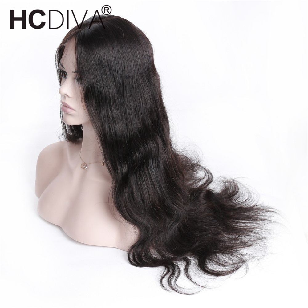 Body Wave Wigs 13X4x2 Lace Frontal Wigs Pre Plucked With Baby Hair Middle Part Lace Fron ...