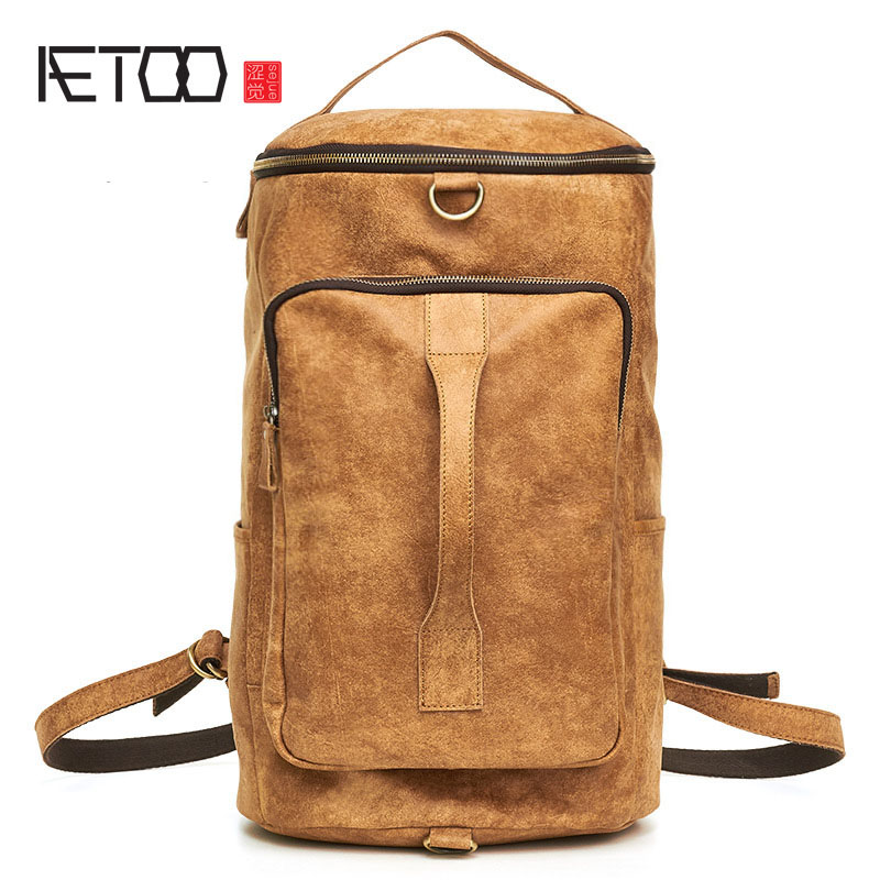 AETOO Ultra-light leather mens first layer of leather hand luggage bag multi-functional leisure shoulder bag shoulder bagAETOO Ultra-light leather mens first layer of leather hand luggage bag multi-functional leisure shoulder bag shoulder bag