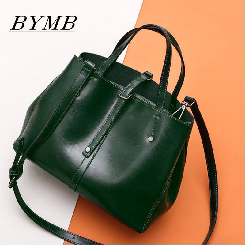 100% Genuine Leather Tote Bag Luxury Handbags Women Bags Designer Famous Brand Retro Shoulder Bag Oil wax Messenger Bag 2017 luxury brand women handbag oil wax leather vintage casual tote large capacity shoulder bag big ladies messenger bag bolsa
