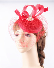 Glamorous sinamay material fascinator base headpiece