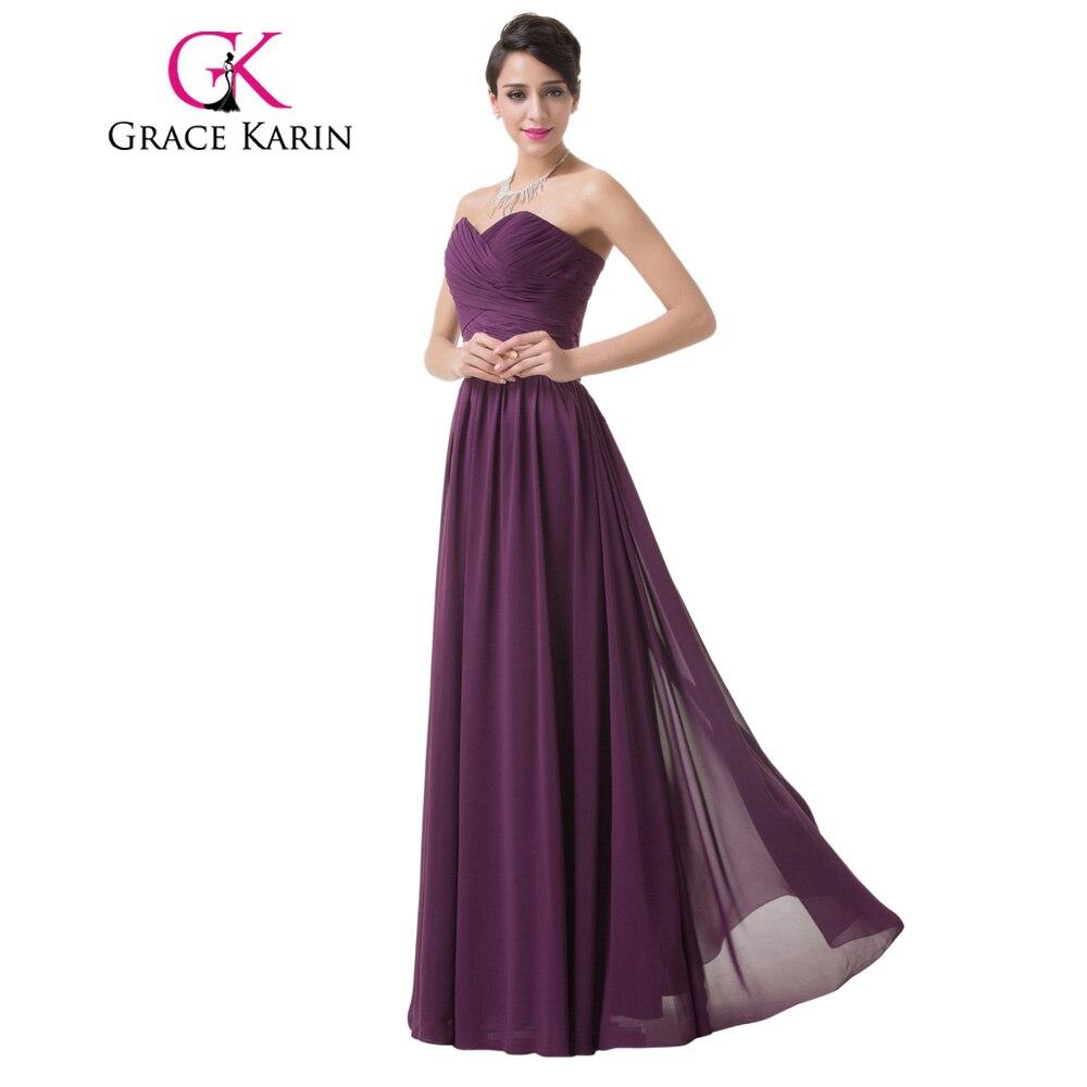 ΞGrace Karin vestido de noche largo mujeres piso-longitud gasa ...