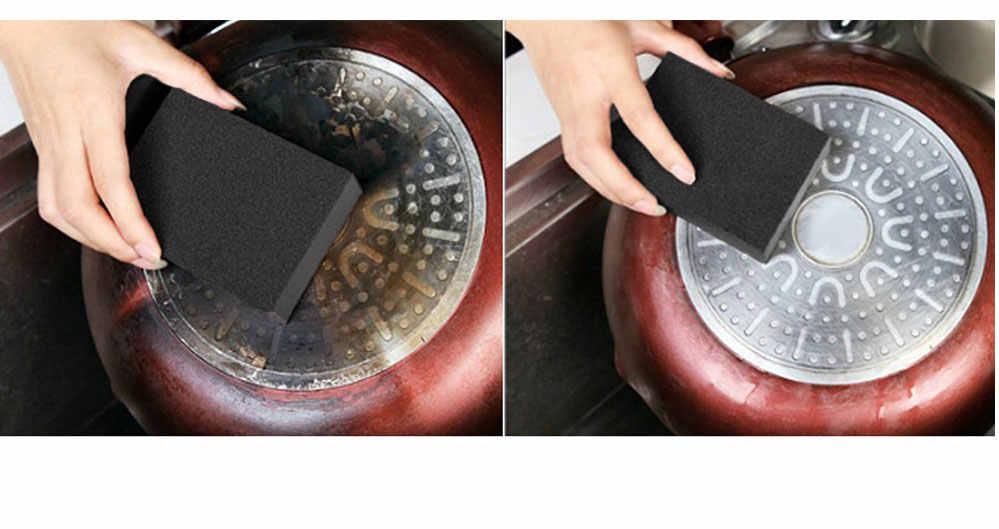 1 Cái/lốc Mới Melamine Bọt Biển Bếp Magic Miếng Cọ Rửa Chà Nồi Ngoại Trừ Rỉ Sét Vệ Sinh Xốp Cho Bếp Nhà Tắm