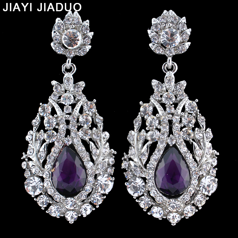 Big-Teardrop-Crystal-Wedding-Long-Earrings-for-Women-Silver-Color-Bridal-Pendantes-Boucle-Doreille-Party-Jewelry