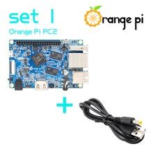 Pomarańczowy zestaw Pi PC2 1: pomarańczowy Pi PC2 + kabel zasilający, obsługiwany Android, Ubuntu, Debian