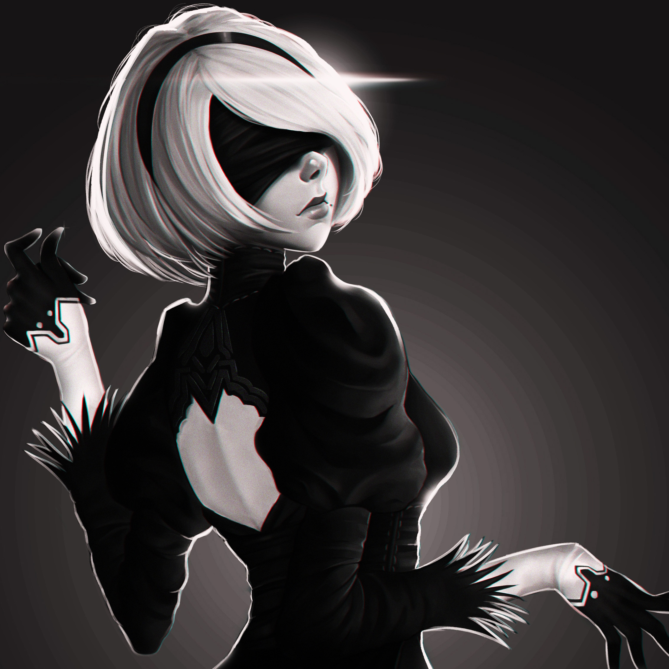 Dress Nier Automata Yorha White Hair Girl Platinum Games