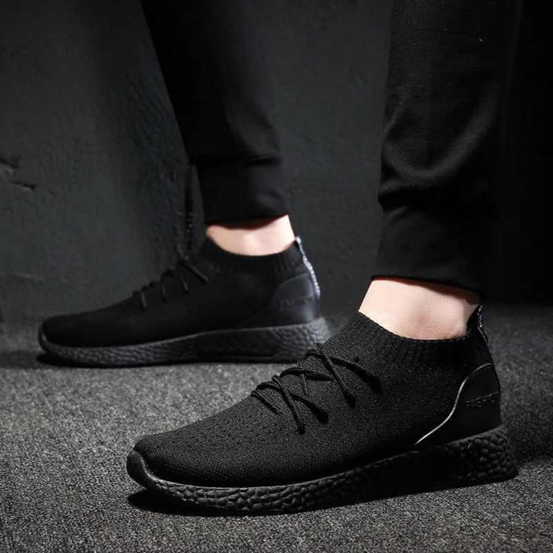 Adisputent mężczyzna wulkanizacji buty trampki oddychające na co dzień 2019 mężczyzna siatki powietrza wiązane buty Tenis wiosna dorosłych trener