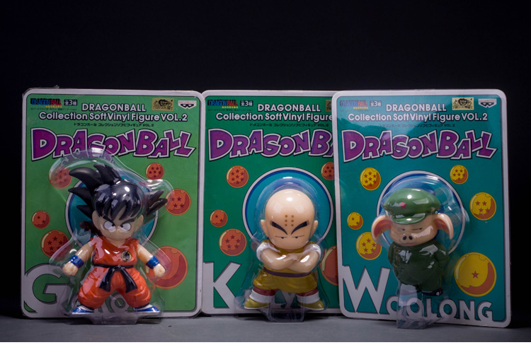 3pcs/lot Anime Cartoon Dragon Ball Goku Kuririn Oolong PVC Action Figure Collectible Model Toy 8-12cm KT269 arale figure anime cartoon dr slump pvc action figure collectible model toy children kids gift 6 types