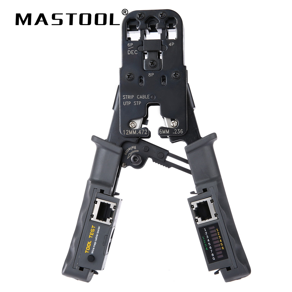 2 in 1 Network Tool Test Crimping Pliers Tester Multifunction Pliers perfume bottle sprayer pump lid cap seal crimping machine pliers tool for 13mm 15mm 20mm optional