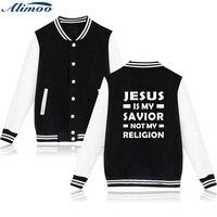 Alimoo Cool Jesus Christian Design Autumn New Print Women Baseball Jackets And Street Wear Winter Coat