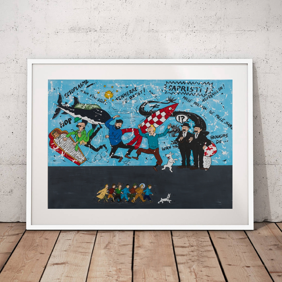 Trend Product  The Adventures of Tintin Wall Art Canvas Painting Picture  Cartoon Characters Tintin Art Canvas Pri