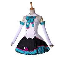Cosplay Japan Vocaloid Megurine Luka boy/ Girl magic future vocal concert Dress 5pcs Cos Clothes