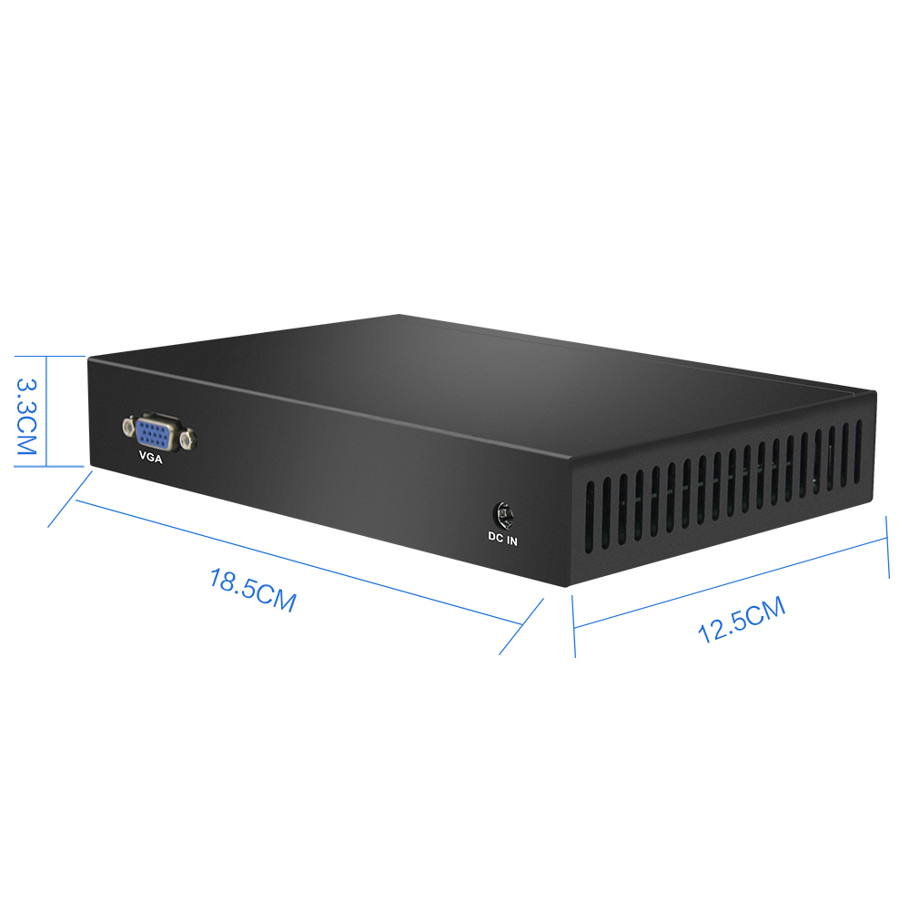 HLY Mini PC with 6x Gigabit Ethernet LAN and Intel Celeron 1037U Processor Industrial Monitors 5