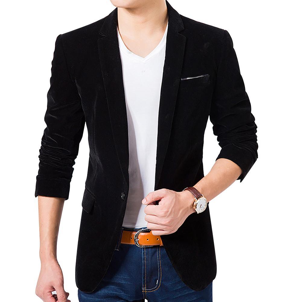 Fashion Men Slim Fit Casual Business Suit Blazer Coat Autumn Outwear Top