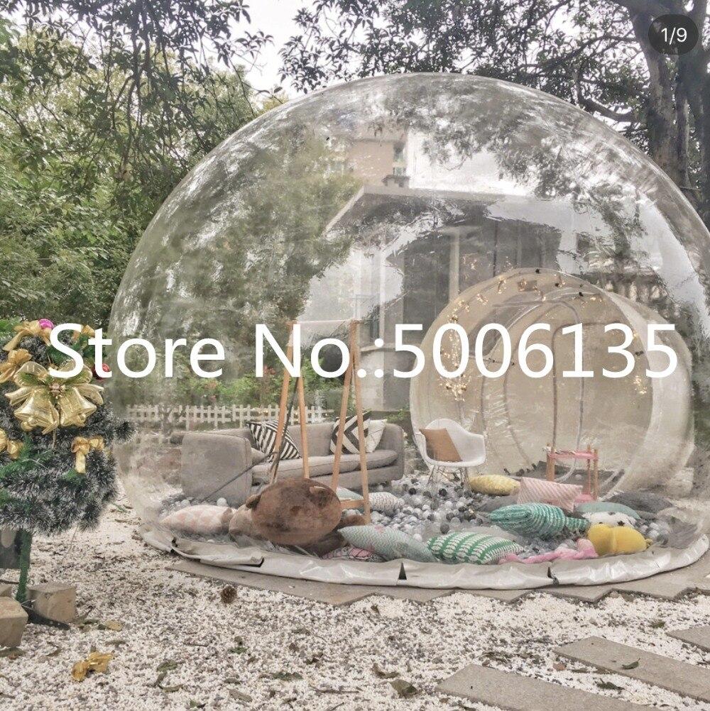 Tente gonflable d'arbre de bulle, tentes de Camping d'arrière-cour de maison d'exposition gonflable, salle de camping de maison de bricolage de pvc de 0.45mm