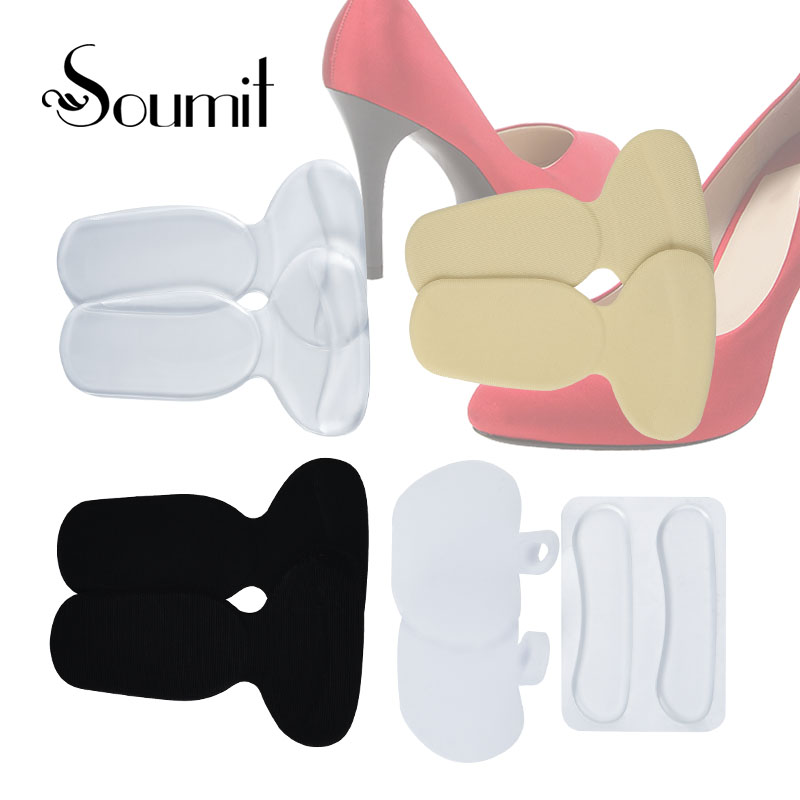 Soumit 10 pieces Silicone Gel High Heel Pads Shoes Inserts Pads Care Insoles Liner Adhesive Foot Heel Anti-slip Pain Relief Pads летние шины pirelli 225 45 r18 91w cinturato p7 run flat