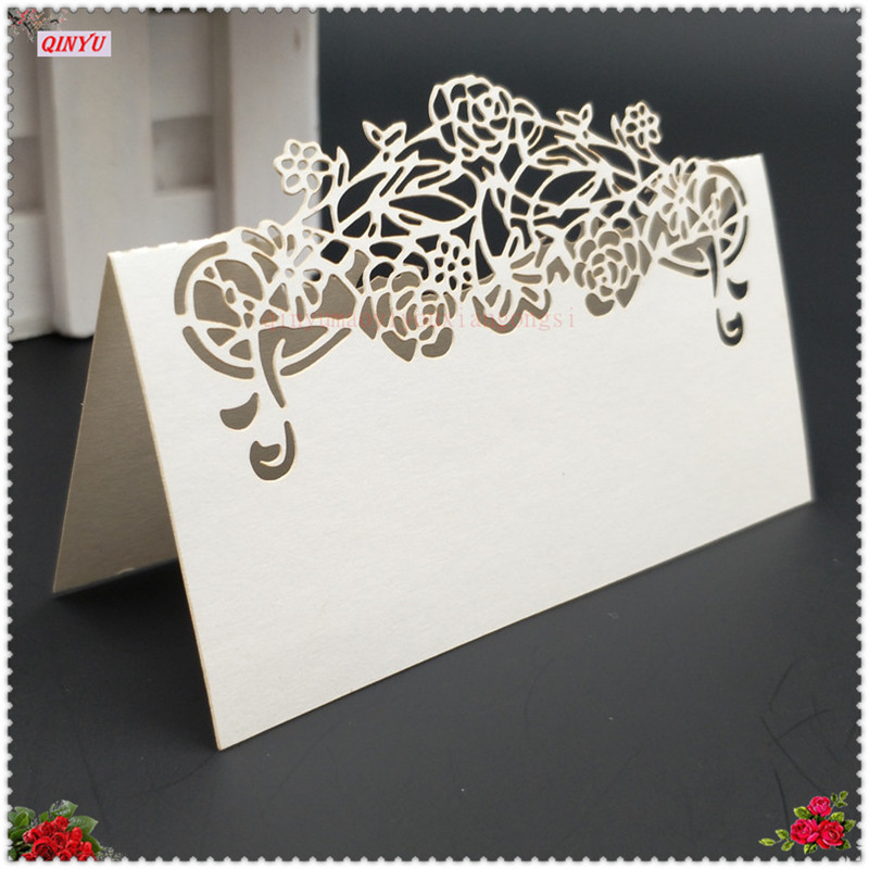 50pcs Table Decoration Card Laser Cut Party Table Name Place Cards Wedding Decoration Wedding Favors Gifts Supply 6ZSH872 image