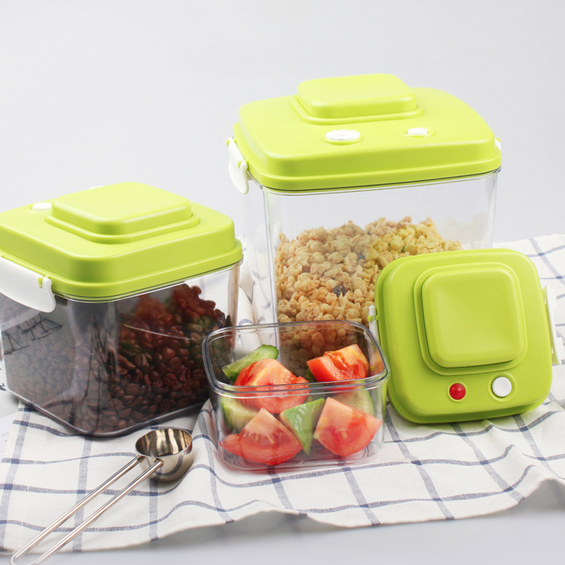OLOEY 3 Models Vacuum Containers Fresh Can Damp Proof Tea Pot Food Seal Pot Vacuum Sealer Pots For Seal Foods