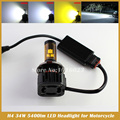 H4 LED Motorcycle Headlight Kit with MKR chip 34W 6000K Front Light Bulb high low beam Motor Headlamp