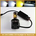 H4 LEVOU Kit de Farol de Moto com MKR chip de 34 W 6000 K Luz Frontal Lâmpada de alta farol baixo Farol Do Motor