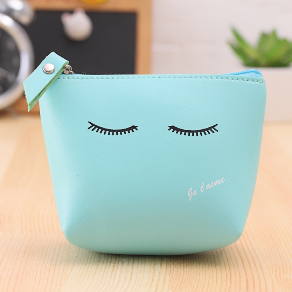 Korean cute style facial printing coin purse,girls clutch change purse,female zero wallet,Artificial Leather Zipper Wallet #512