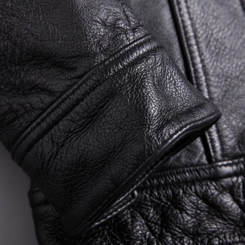 Cow Leather Jacket for Men Genuine Cow-Hide Jacket C486