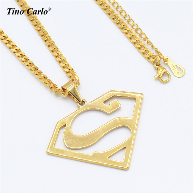 Tino Carlo New Dancer Jewelry Stainless Steel Gold Color Superman