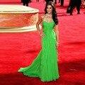 Estrela tapete vermelho de luxo vestido longo Mais Recente internacional vestido da celebridade de luxo Ruched querida Fora do vestido de ombro
