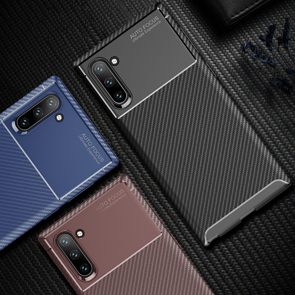 Note 10 Business Carbon Case for Samsung Galaxy Note 10 Cover for Note 10 Silicone Soft Back Funda for Samsung Note 10 Pro Capa