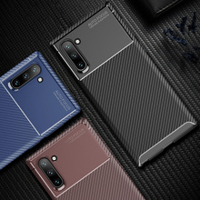 Note 10 Business Carbon Case for Samsung Galaxy Cover Silicone Soft Back Funda Pro Capa