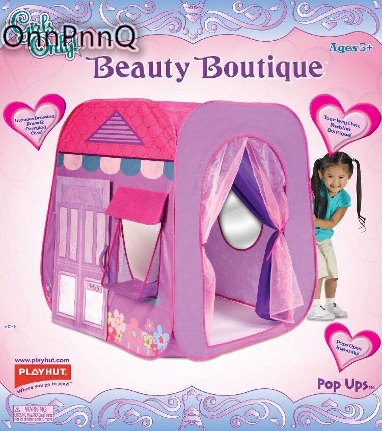 Protable Princess Castle Toy Tents for children's House Beauty Boutique Play tent Playhouse Indoor Outdoor Game With Kids Pool