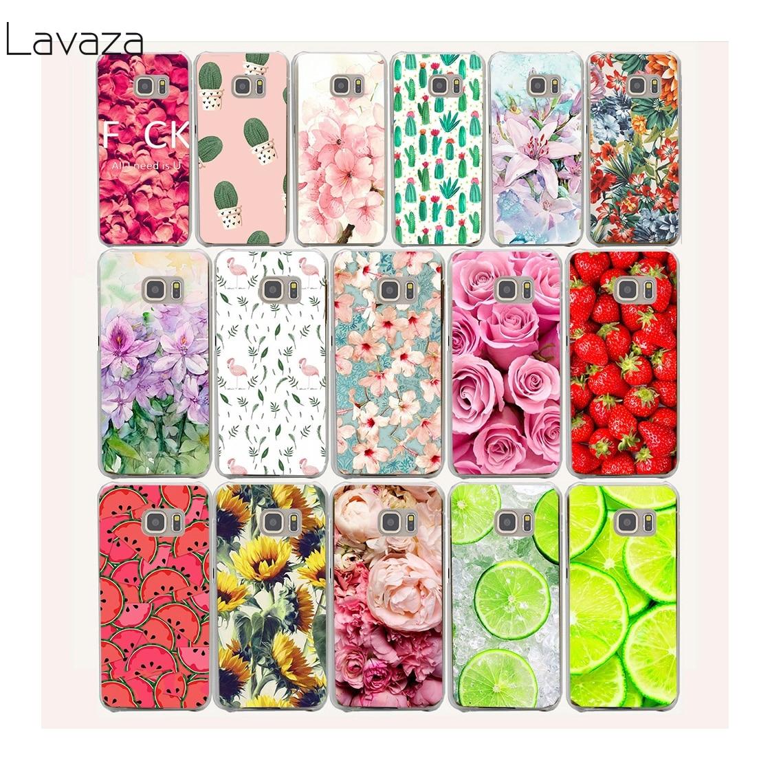 Flowers Daisy Plants Fruit Hard Transparent Case Cover for Galaxy S3 S4 S5 & Mini S6 S7 Edge Plus Case Cover