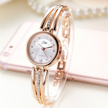 цена New Fashion Rhinestone Watches Women Luxury Brand Stainless Steel Bracelet watches Ladies Quartz Dress Watches reloj mujer Clock онлайн в 2017 году