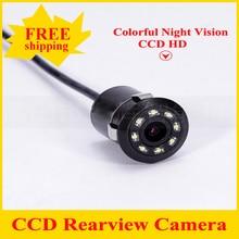 2017 Новый Водонепроницаемый CCD Универсальная камера заднего вида 8LED Ночного Видения Заднего Камера Автомобиля HD вид Сзади Автомобиля Парковочная Камера