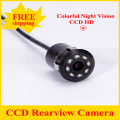 2017 Nova Waterproof CCD câmera de visão traseira Universal 8LED Night Vision Câmara de Marcha Do Carro HD Car Rear view Camera Estacionamento