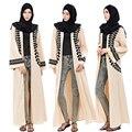 De moda de las mujeres chaqueta Dubai estilo Abaya Jilbab Abayas musulmán mujer manga larga árabe islámico vestido de abrigo
