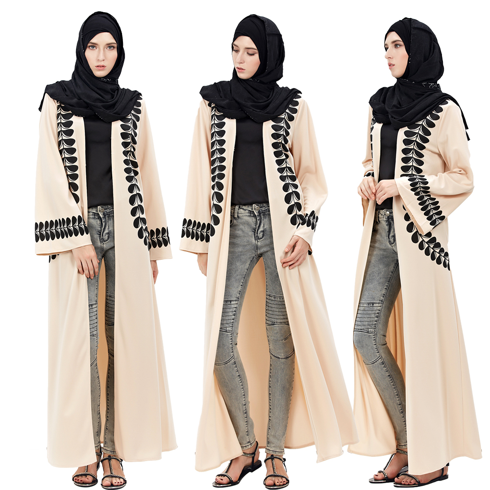 Women Fashion Cardigan Dubai Style Abaya Jilbab Abayas Muslim Kvinna Långärmad Islamic Arab Dress Coat