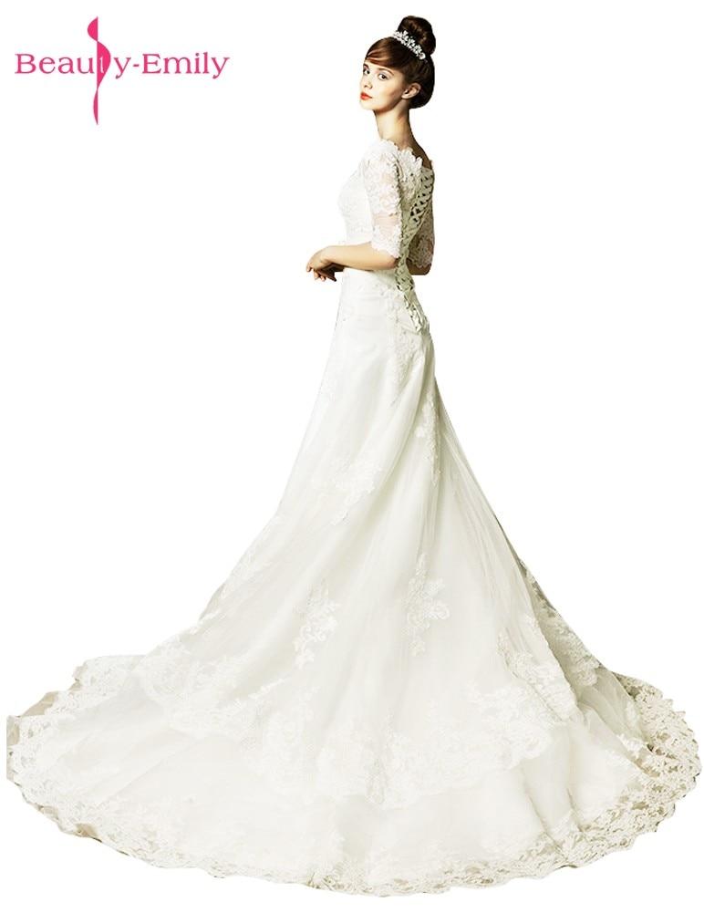Ομορφιά-Emily White Υψηλής ποιότητας - Γαμήλια φορέματα - Φωτογραφία 2