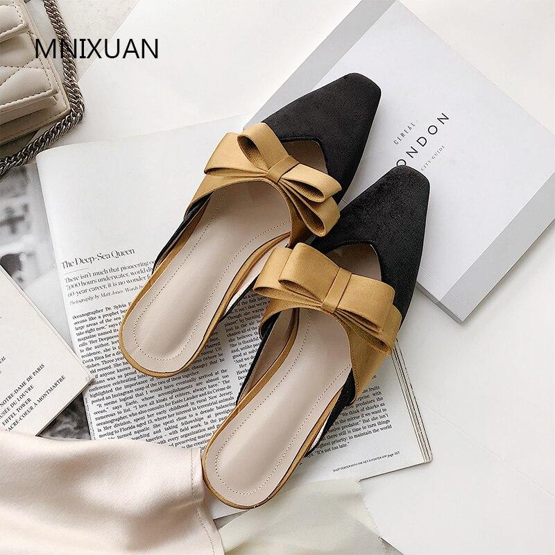 Femmes Chaussures Confortables Velours D'été Yellow 2019 Nouveauté uJlK3TFc1