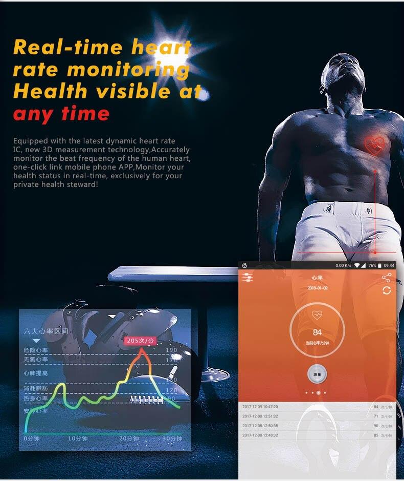 Pantalla de Color inteligente deportes pulsera ritmo cardíaco rastreador de Fitness pulsera inteligente presión arterial reloj para Huawei Mate RS 10 Pro 10 - 3
