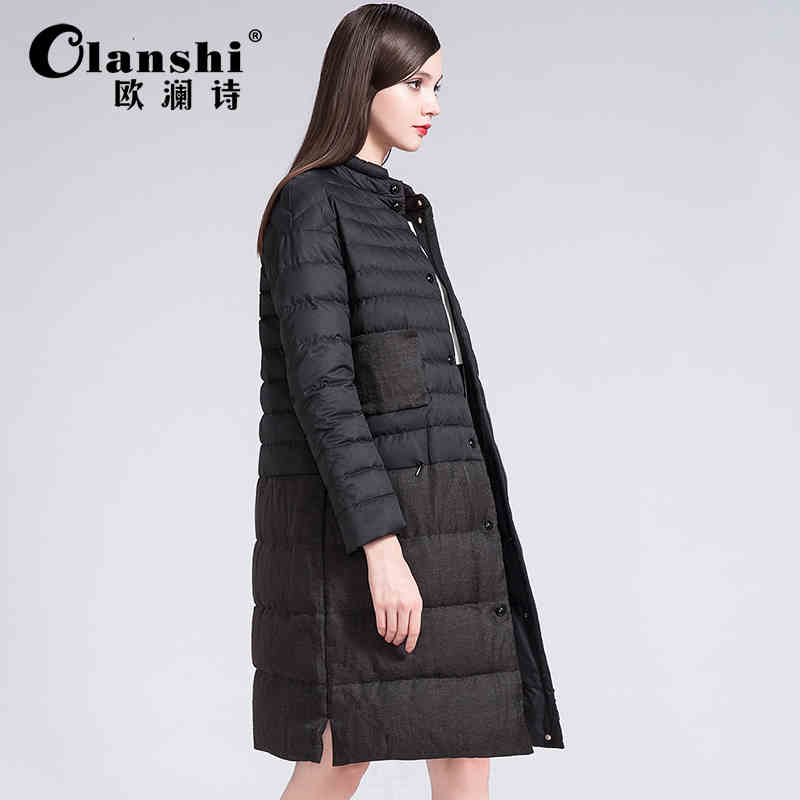 2015 New Hot winter Thicken Warm Cold Woman Down jacket Coat Parkas Outerwear Splice Luxury long Plus Size L Straight High-end