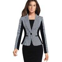 Nice Slim Office Work Blazer Feminino Ladies Jacket Blazer Women Suit Long Sleeves Single Button Vogue Blazers Jackets Business