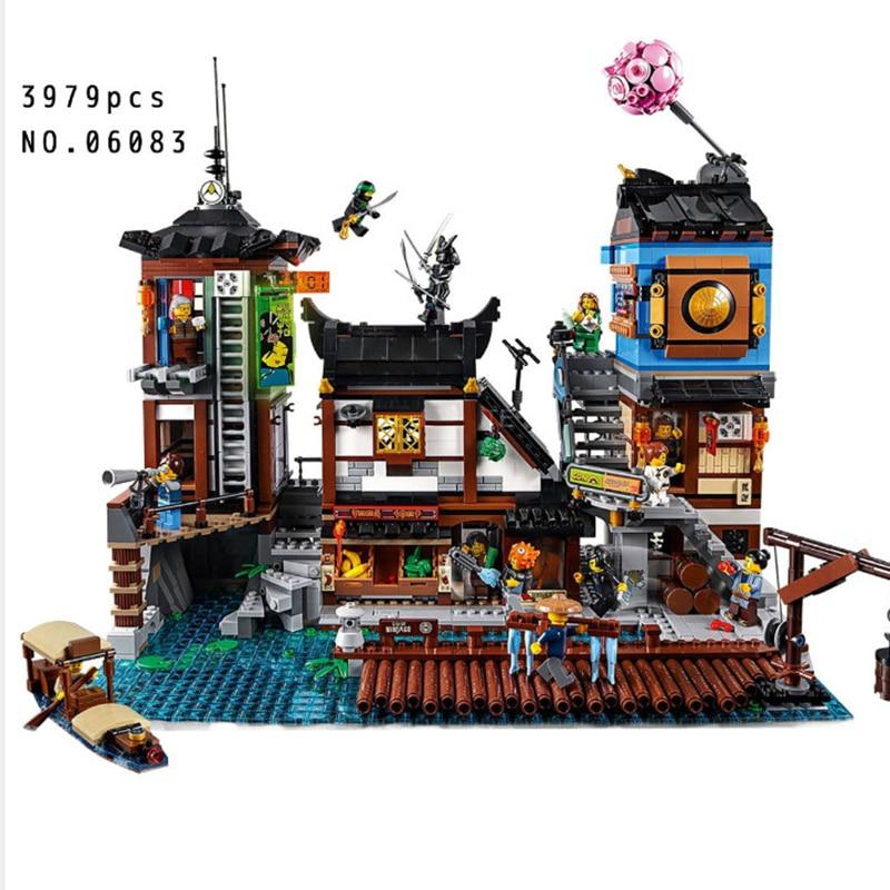 где купить Building Blocks City Street 06083 3979pcs Compatible 70657 City Docks Set Toys for Children Bricks Lepin city street in blocks по лучшей цене