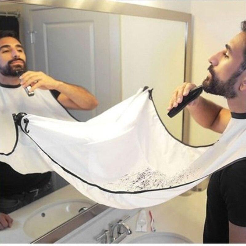 Beard Apron Beard Care Clean Gather Cloth Bib Facial Hair Dye Trimmings Shaving Catcher Cape with Two Suction Cups Dropship(China)