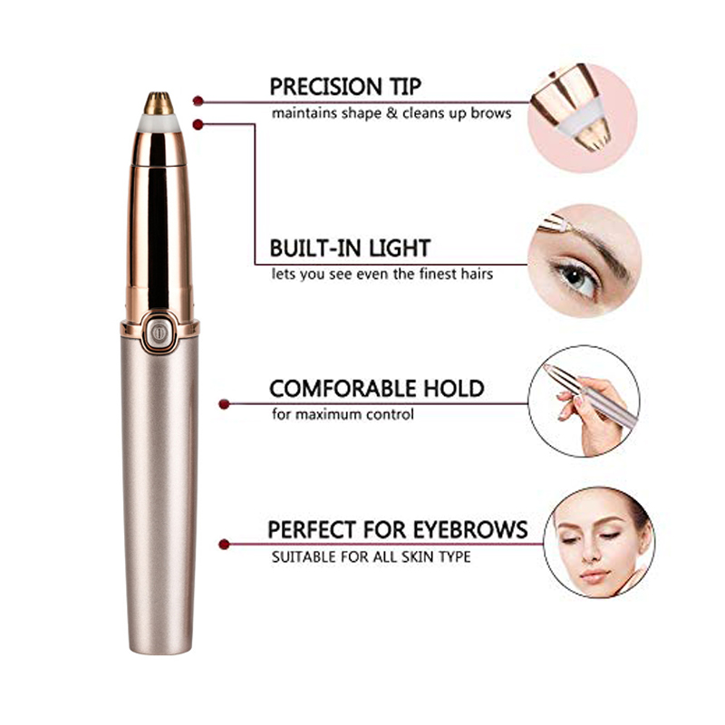 Portable Electric Painless Eyebrow Epilator Trimmer For Women Lipstick Eye Brow Epilator Pen Face Hair Remover Shaver Razor 3