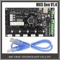 Últimas mks gen mega 2560 r3 motherboard reprap ramps1.4 tablero de control v1.4 compatible, con USB